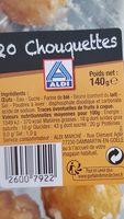 Chouquettes au sucre - Ingrédients - fr