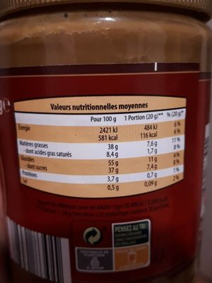 Chili con Carne et riz - Nutrition facts