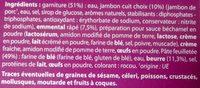 Paniers Feuilletés - Jambon Fromage - Ingrédients - fr
