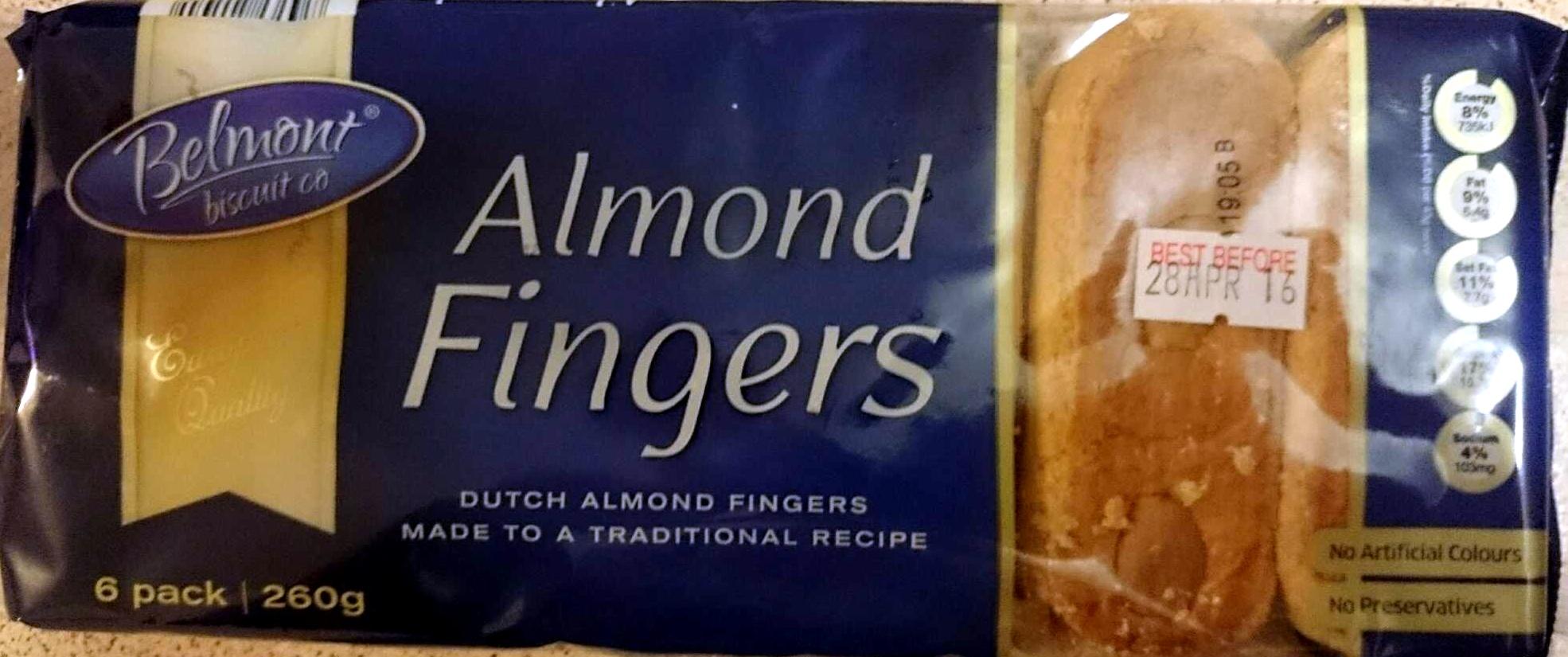 Almond Fingers - Produit