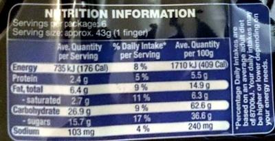 Almond Fingers - Voedingswaarden - en