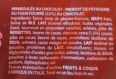 Mini Roulés au Chocolat - Ingrédients