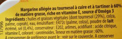 Margarine allégée tournesol - Ingrediënten - fr