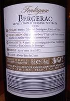 Bergerac Frontignac 2010 - Informations nutritionnelles - fr