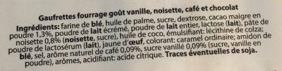 Gauffrette fourrées - Ingrédients - fr
