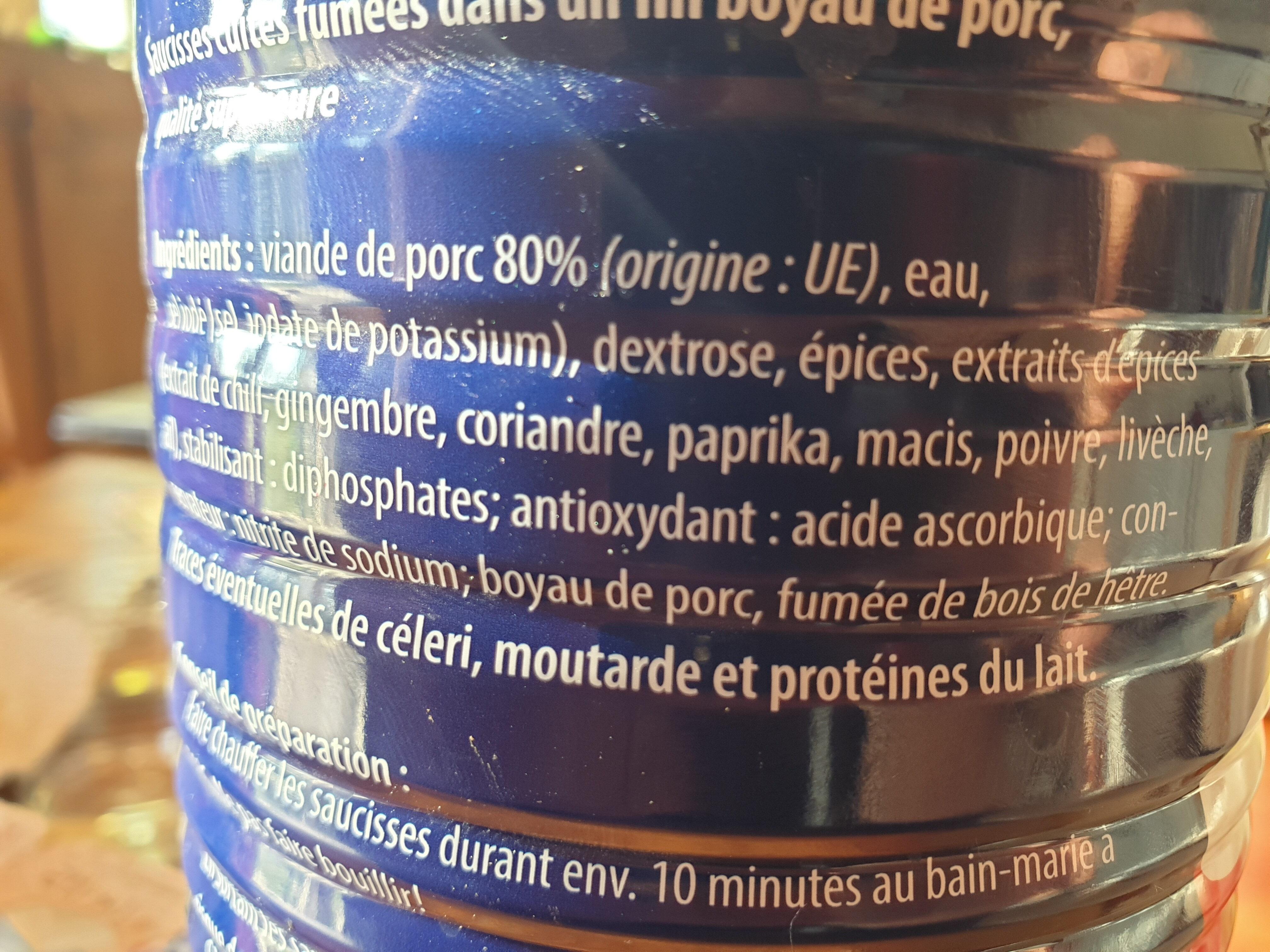 SAUCISSE XXL - Ingredients