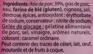 Mousse de foie supérieure à l'ancienne - Ingredients - fr