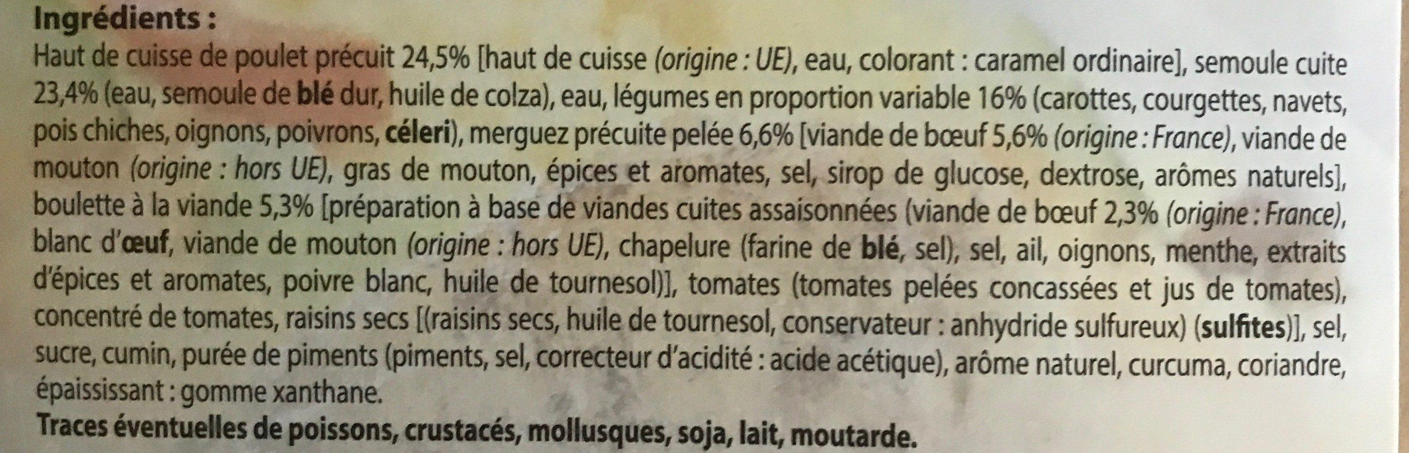 Couscous Royal - Ingrédients - fr