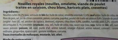 Nouilles royales - Ingrédients - fr
