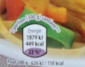 Nouilles royales - Nutrition facts