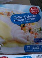 Colin d'Alaska sauce Citron et riz blanc aux légumes - Produit - fr