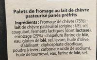 Chèvres Chauds - Ingredients - fr
