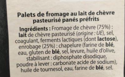 Chèvres Chauds - Ingredients