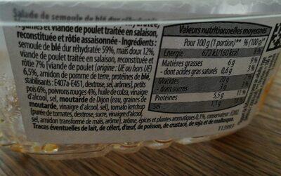 Taboulé au Poulet - Ingrediënten