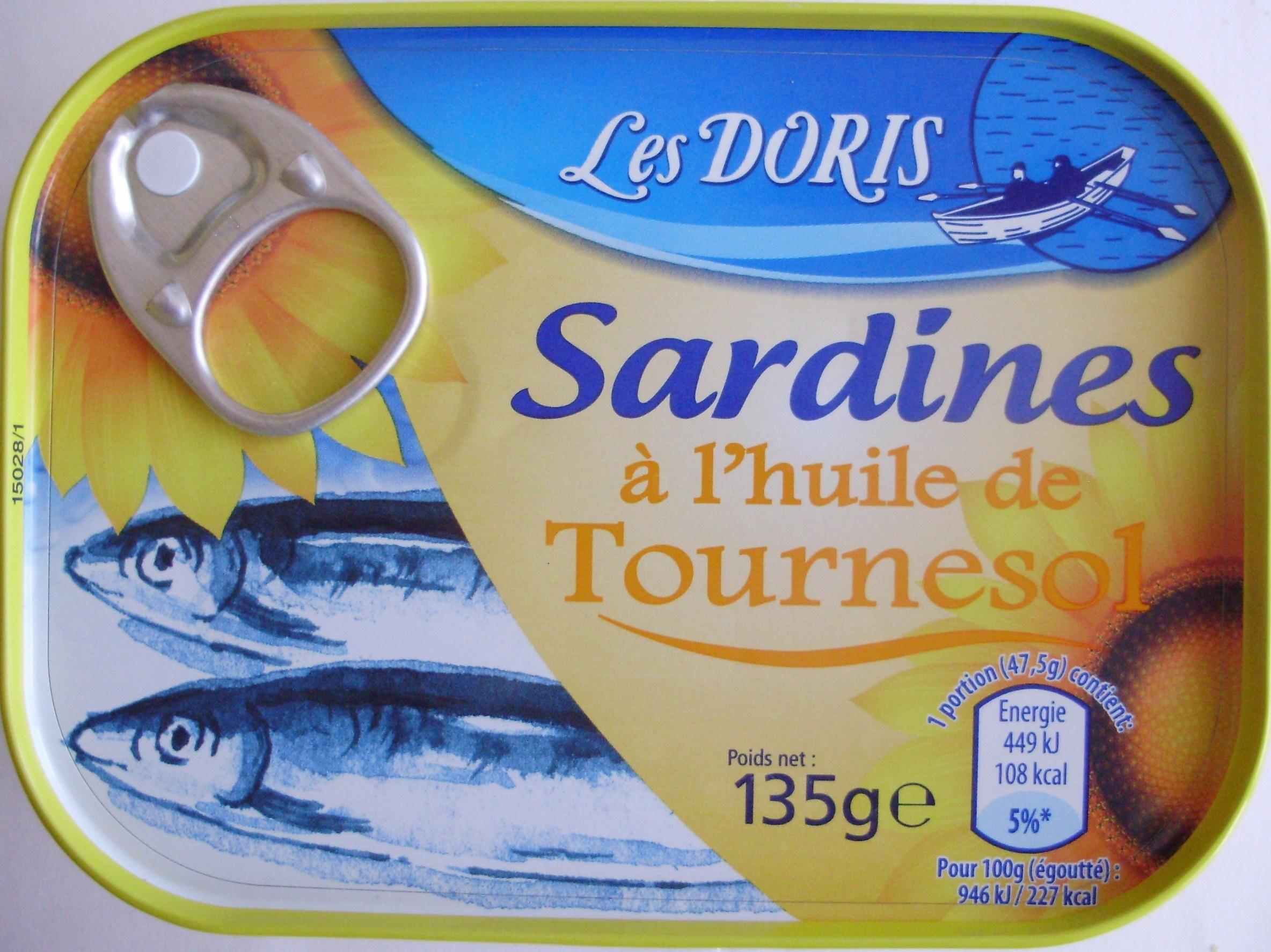 Sardines Lhuile De Tournesol Lot 2 Botes