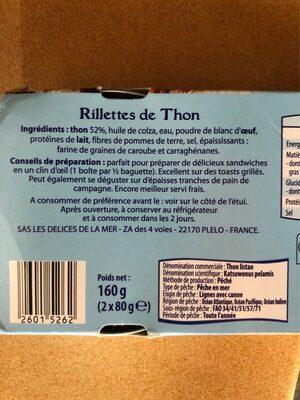 Rillettes de Thon - Ingrediënten