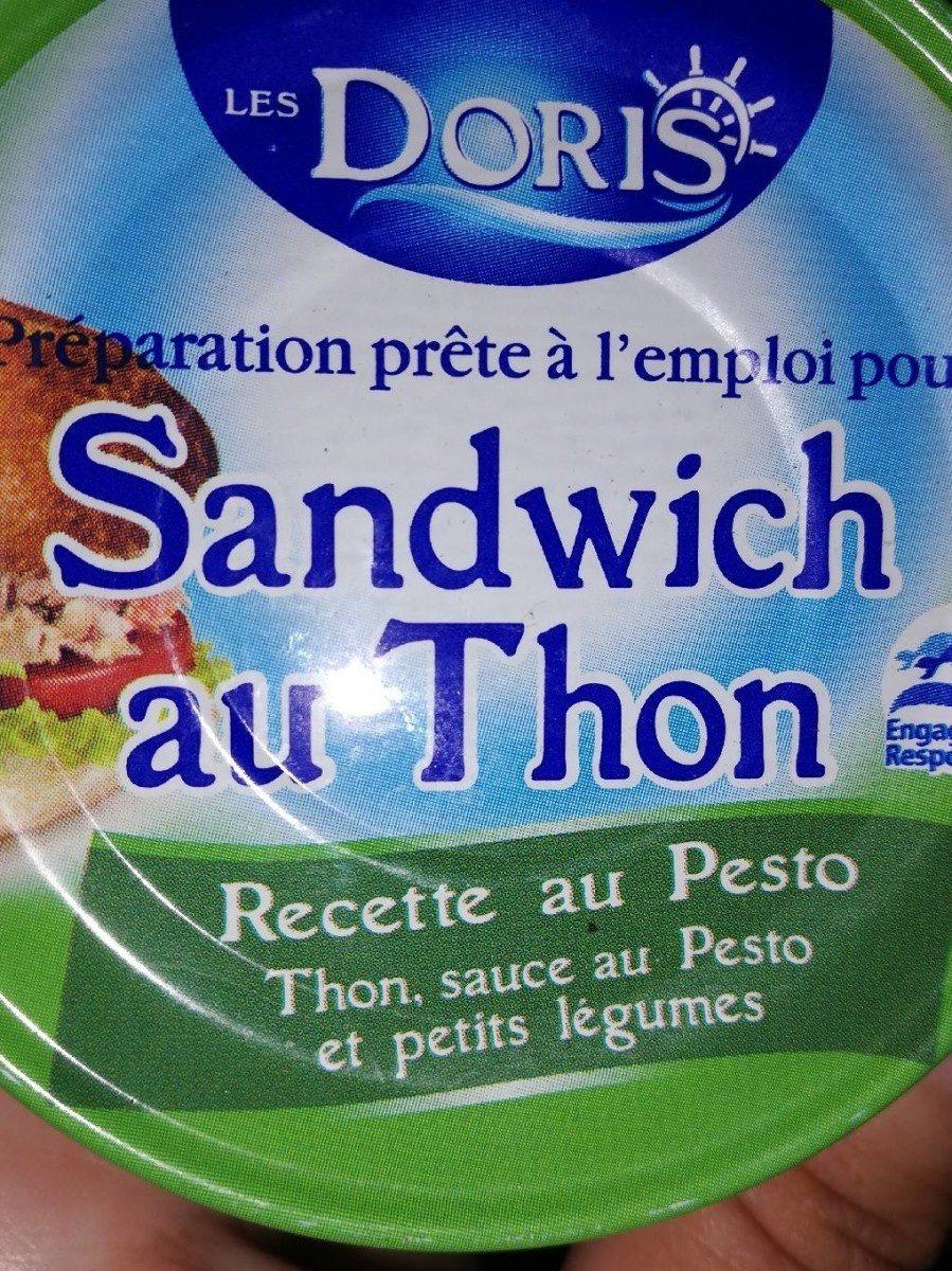 Préparation sandwich au thon cette pesto - Informations nutritionnelles