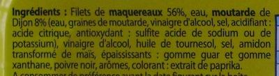 Filets de Maquereaux Sauce moutarde - Ingrediënten