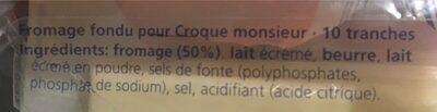 Fromage fondu pour croque monsieur - Ingrédients - fr