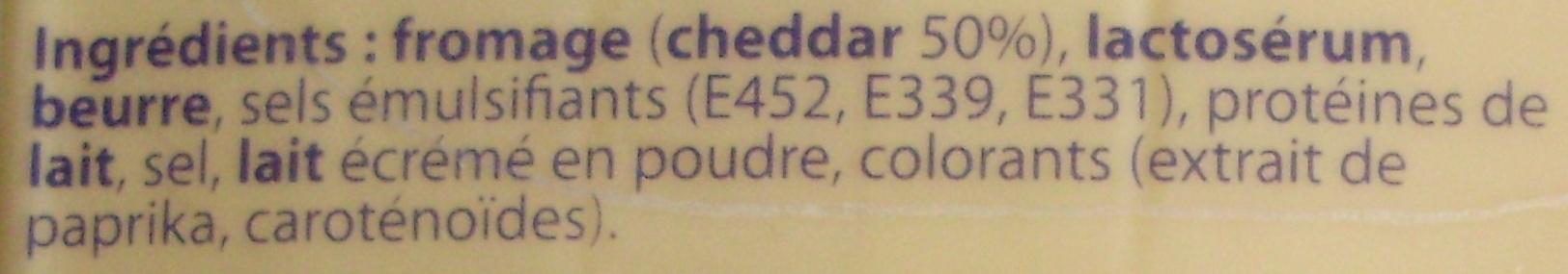 Tranches de Cheddar (23 % MG) 10 tranches - Ingrediënten