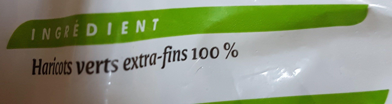 Haricots Verts Extra Fins surgelés - Ingredienti - fr