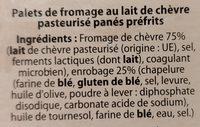 4 chèvre chauds - Ingrediënten - fr
