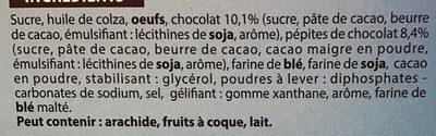 Brownie Chocolat & Pépites - Ingredients - fr