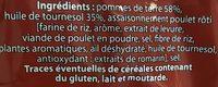 Chips saveur poulet rôti - Ingredients
