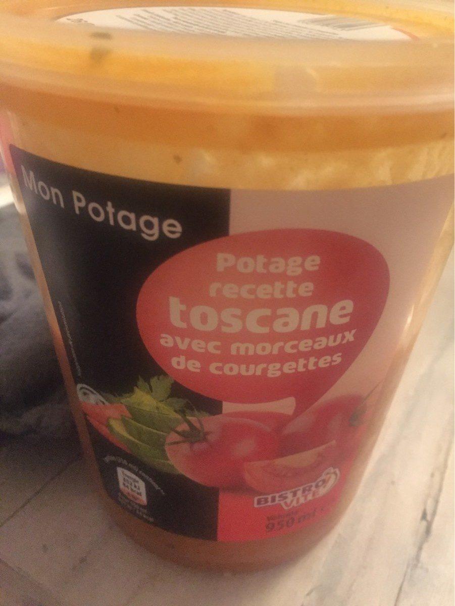 Potage, recette toscane avec morceaux de courgettes - Produit - fr
