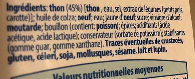 Tartinable de la mer, saumon fumé - Ingrédients