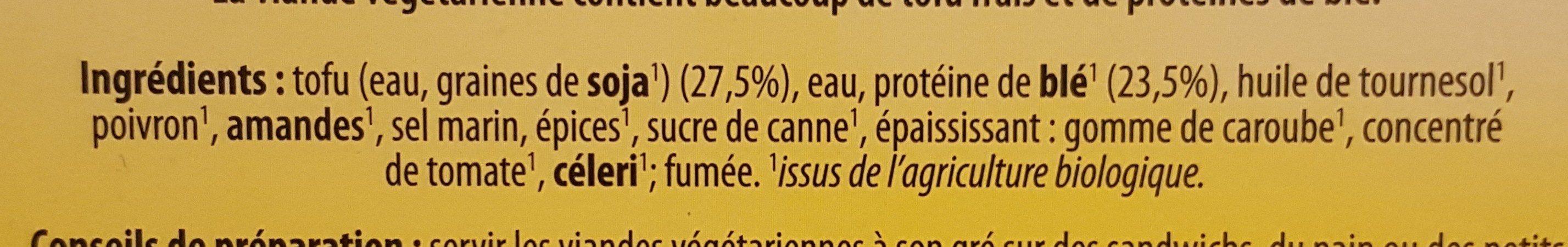 Charcuterie végétarienne - Ingredientes