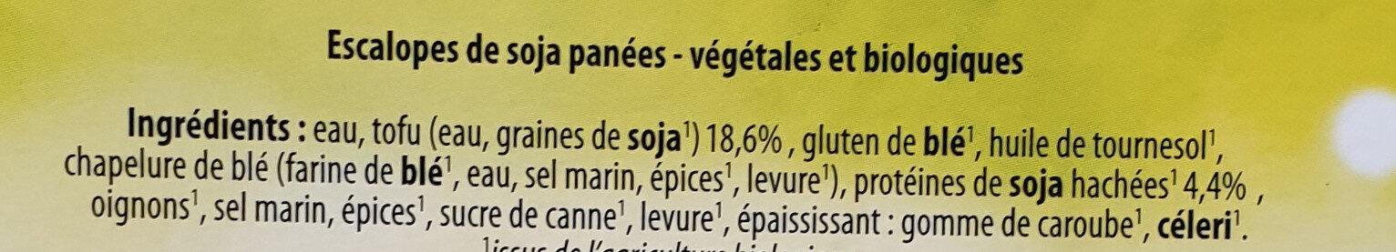 Charcuterie végétale - Ingrédients - fr