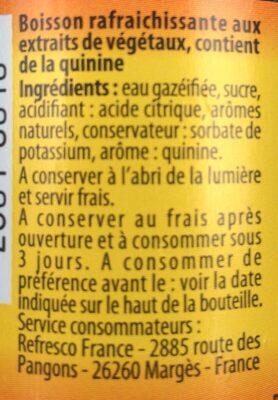 Tonic Water - Ingredients - fr