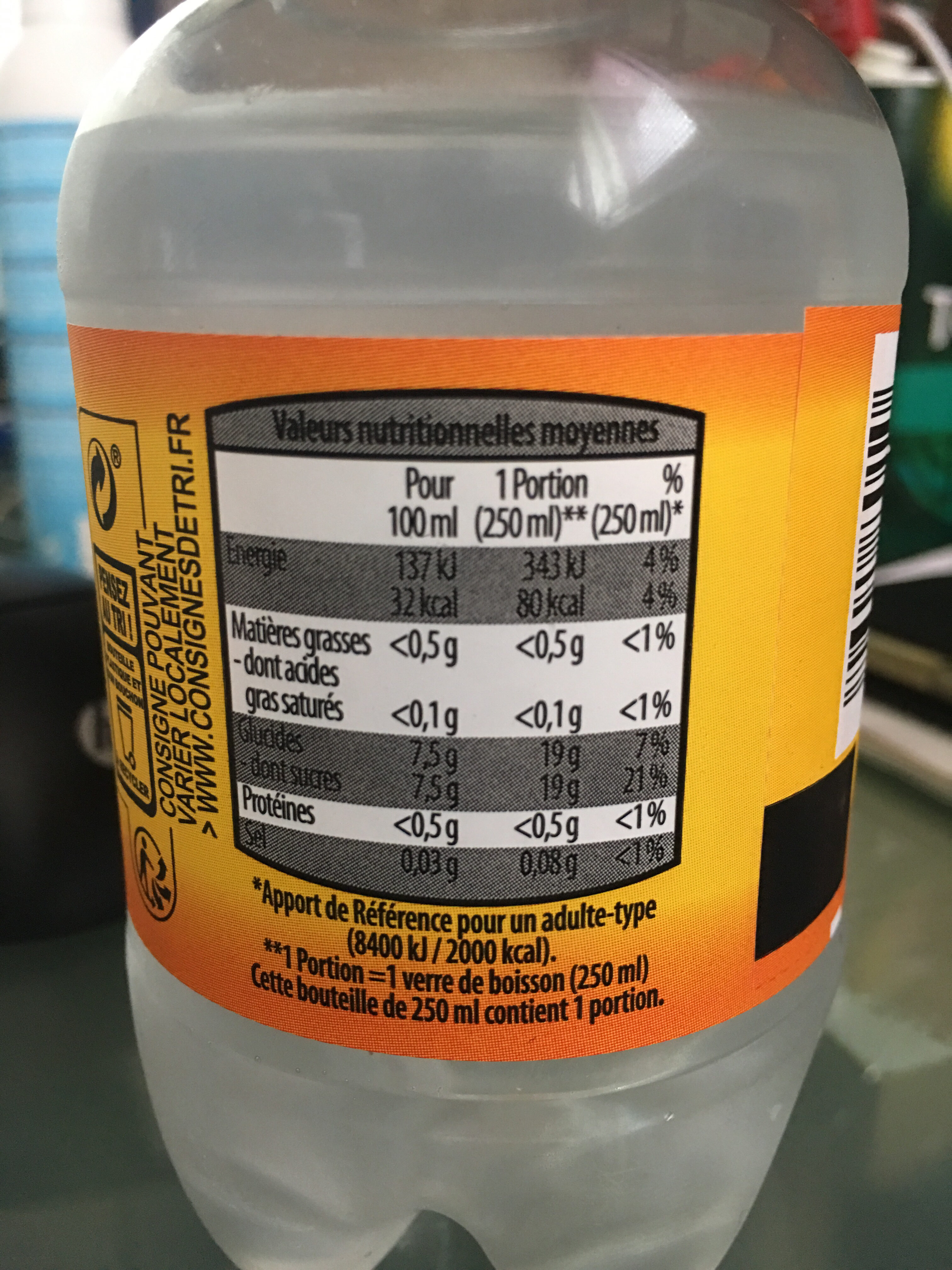 Tonic Water - Nutrition facts - fr