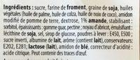 Carrés fourrés aux amandes - Ingrédients - fr