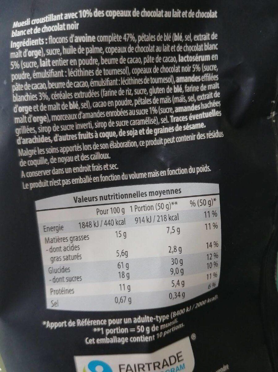 Croustillant Muesli Triple Choco - Informations nutritionnelles - fr