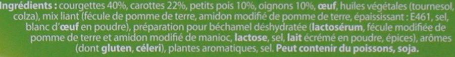 Palets poireaux carottes pommes de terre - Ingrédients - fr