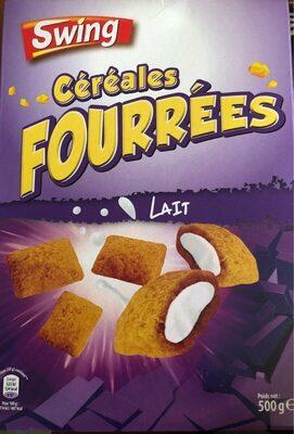 Céréales fourrées Lait - Produit - fr