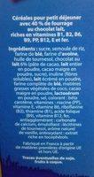 Céréales fourrées Lait - Ingrédients - fr