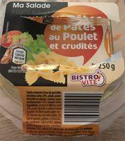salade fraîcheur de pâtes au poulet et crudités - Produit - fr