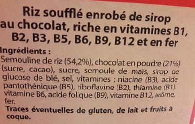 Riz Soufflé au Chocolat - Ingredients