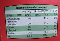 Céréales fourrées Chocolat - 营养成分 - fr