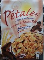 Pétales de riz et de blé complet aux copeaux de chocolat noir - Produit - fr