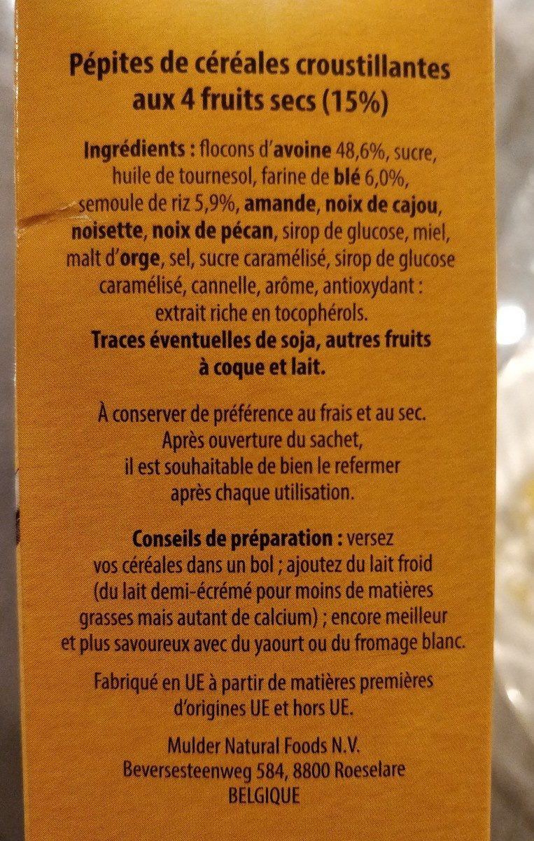 Pepites 4 noix - Ingredients - fr