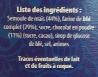 Smiley Cereal Chocolat - Ingrédients