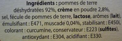 Purée à l'Ancienne - Ingrediënten - fr