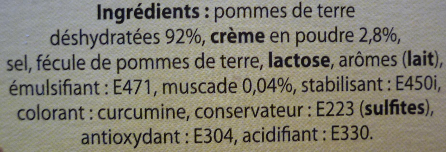 Purée à l'Ancienne - Ingrédients - fr