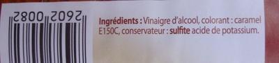 Vinaigre d'Alcool Coloré (6 % d'acidité) - Ingrédients - fr