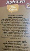 Gaufrettes Aperitives - Ingrédients - fr