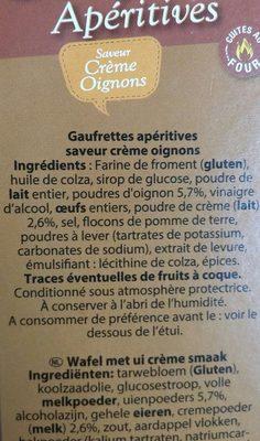 Gaufrettes Aperitives - Ingrédients